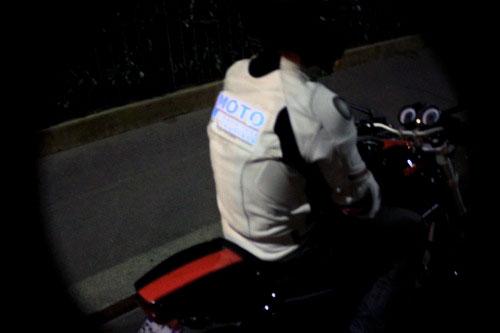 Blouson de moto électroluminescent