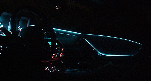 câble électroluminescent sellerie camaro