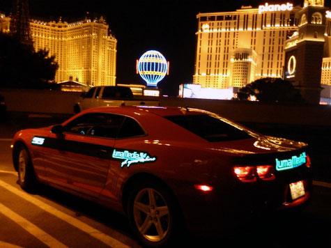 Panel électroluminescent Las Vegas Chevrolet Camaro