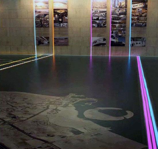 Musée événementiel ligne adhésive au sol