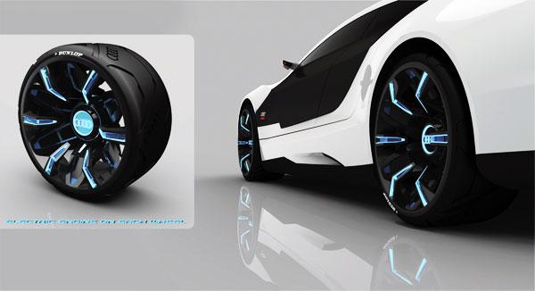 Jantes électroluminescentes de voiture