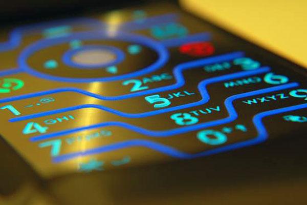 Clavier de téléphone électroluminescentes