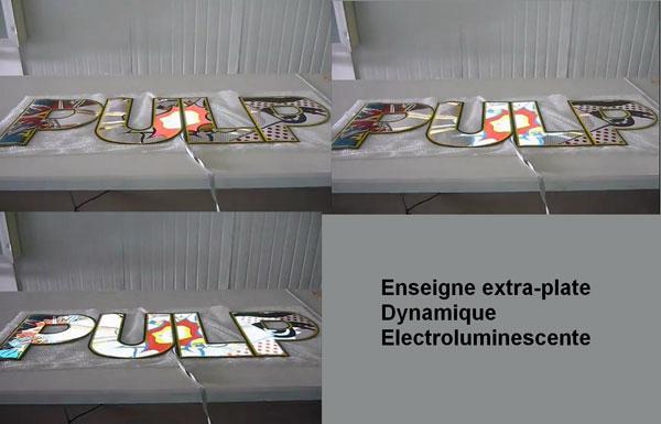 Enseigne extra-plate