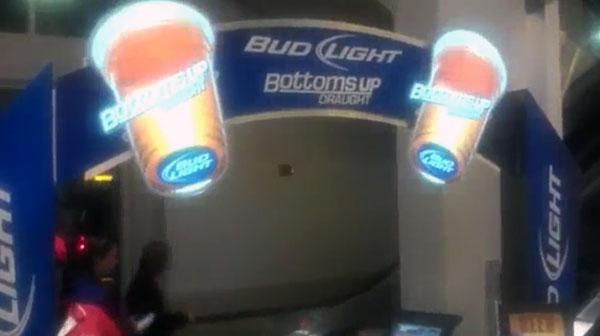 Panneau de publicité électroluminescente stand interactif