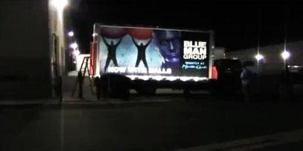Roadshow électroluminescent et camion publicitaire