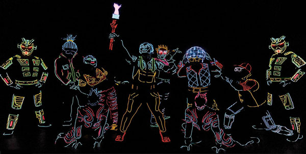 La troupe Iluminate