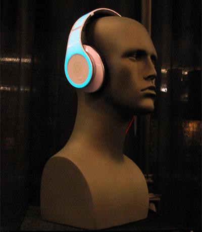 Casque d'écouteurs DJ électroluminescent