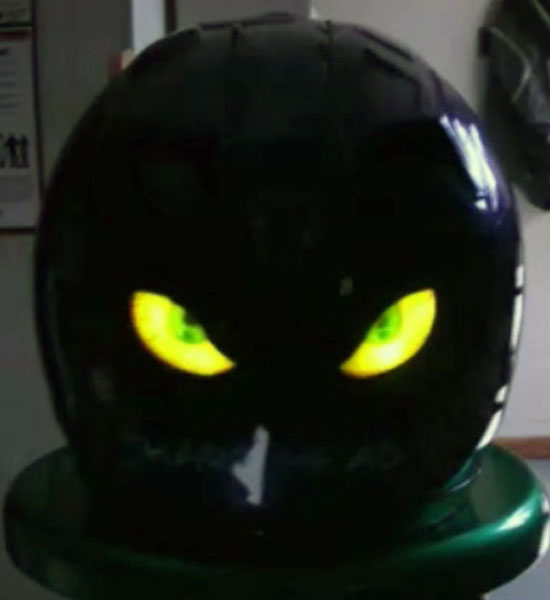 Casque yeux électroluminescent